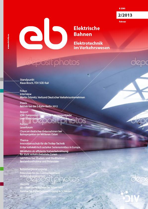 """Artikel, Elektrische Bahnen, Februar 2013, """"Oberleitungsanlagen im Gotthard-Basistunnel""""; Martin Kuhn, Zürich; Martin Solka, Stans"""