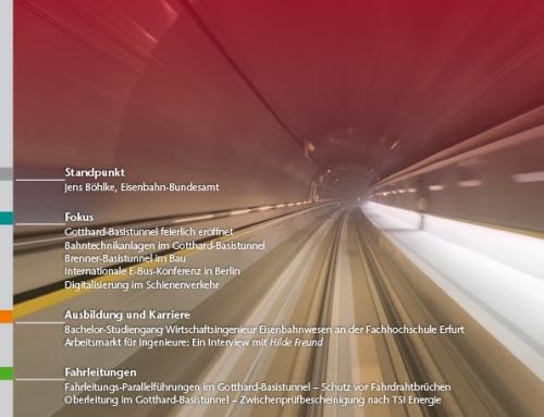 Artikel:  Oberleitung im Gotthard-Basistunnel – Zwischenprüfbescheinigung nach TSI Energie