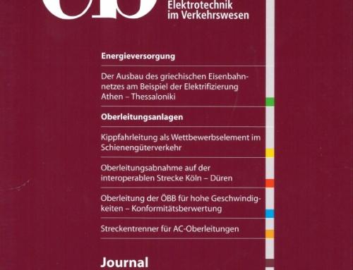 Artikel: Kippfahrleitung als Wettbewerbselement im Schienengüterverkehr